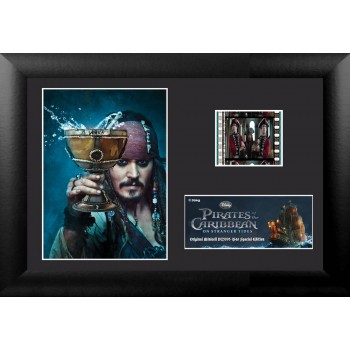 Pirates of the Caribbean On Stranger Tides Framed Mini Film Cell Cheers