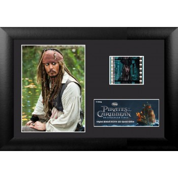 Pirates of the Caribbean On Stranger Tides Framed Mini Film Cell Jack Sparrow