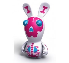 Raving Rabbids Travel in Time Pink Skeleton Rabbid PVC