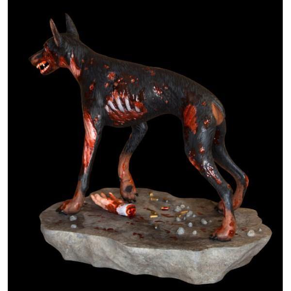 Resident Evil Statue 1 6 Zombie Dog Sdcc Exclusive 20 Cm