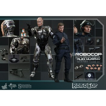 RoboCop Movie Masterpiece Action Figure 2-Pack 1/6 RoboCop Battle Damaged and Alex Murphy 30 cm
