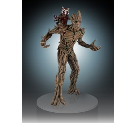 Roket and Groot Statue 53 cm