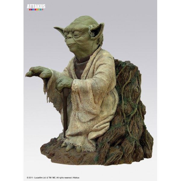 star wars statue yoda using the force 54 cm. Black Bedroom Furniture Sets. Home Design Ideas