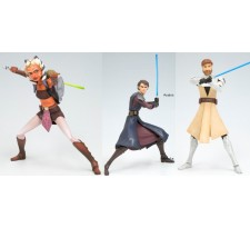 Star Wars The Clone Wars Art FX+ Jedi Series 1 7 inch Vinyl Figure Asst.