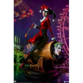 DC Comics Diorama Harley Quinn and The Joker 35 cm