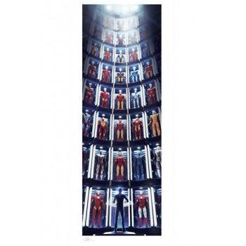 Marvel Art Print Iron Man: Hall of Armor GITD 41 x 99 cm unframed