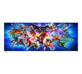 DC Comics Art Print Justice League: The World's Greatest Super Heroes 46 x 102 cm unframed