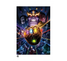 Marvel Art Print Thanos & Infinity Gauntlet by Fabian Schlaga 61 x 46 cm - unframed