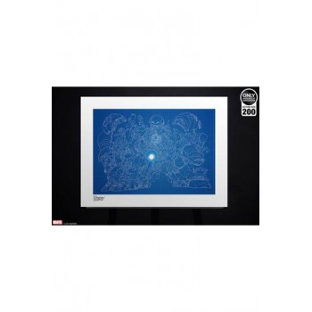 Marvel Art Print Hulkbuster Blueprint Variant by Erwin Papa 46 x 61 cm unframed