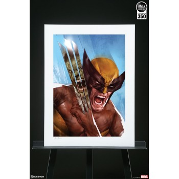 Marvel: The Incredible Hulk vs Wolverine Unframed Art Print