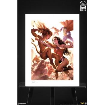 DC Comics Art Print Justice League: Wonder Woman vs Cheetah 46 x 61 cm unframed