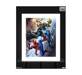 Marvel Art Print Spider-Man vs Venom 46 x 61 cm unframed
