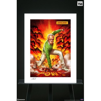 Marvel Stan Lee Excelsior Unframed Art Print Unframed