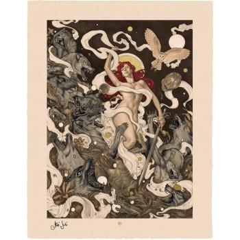 Original Artist Series Art Print Red by Máté Jakó 46 x 58 cm unframed