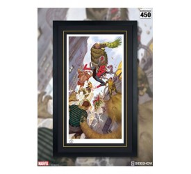 Marvel Art Print Spider-Man vs Sinister Six 43 x 74 cm unframed