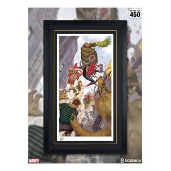 Marvel Art Print Spider-Man vs Sinister Six 43 x 74 cm unframed