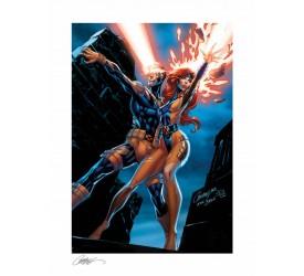 Marvel Comics Art Print Uncanny X-Men: Cyclops and Jean Grey 46 x 61 cm unframed