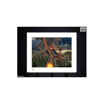Original Artist Series Art Print Eruption by Vincent Hie 41 x 51 cm unframed