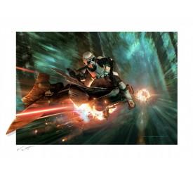 Star Wars: Return of the Jedi Endor Chase Unframed Art Print