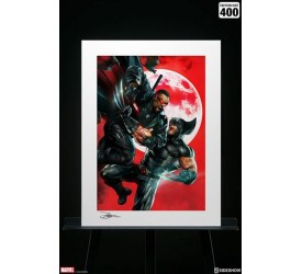 Marvel Art Print Wolverine vs Blade 46 x 61 cm unframed