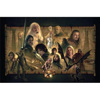 Lord of the Rings Fine Art Print Giclee The Two Towers 61 x 91 cm