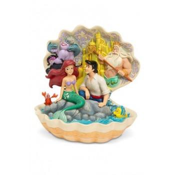 Disney Statue Shell Scene (The Little Mermaid) 20 cm