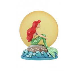 Disney Statue Ariel Sitting on Rock by Moon (The Little Mermaid) 19 cm