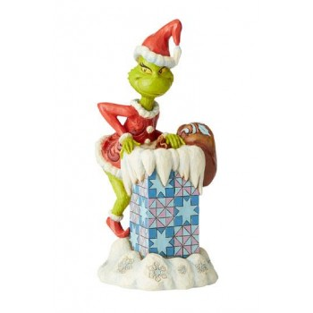 How the Grinch Stole Christmas Statue Grinch Climbing in the Chimney by Jim Shore 23 cm