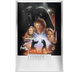 Star Wars Revenge of the Sith Silver Foil Framed Print