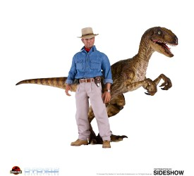 Jurassic Park Dr. Alan and Velociraptor 1/6 Scale Figure Set