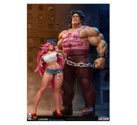 Street Fighter Statues 1/4 Mad Gear Exclusive Hugo and Poison Set