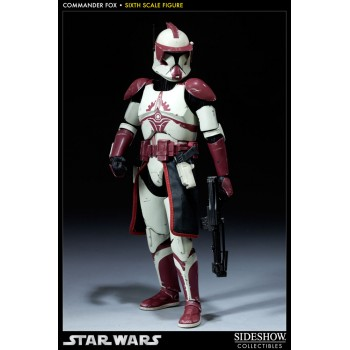 Star Wars Action Figure 1/6 Clone Commander Fox SDCC 2012 Sideshow Exclusive 30 cm
