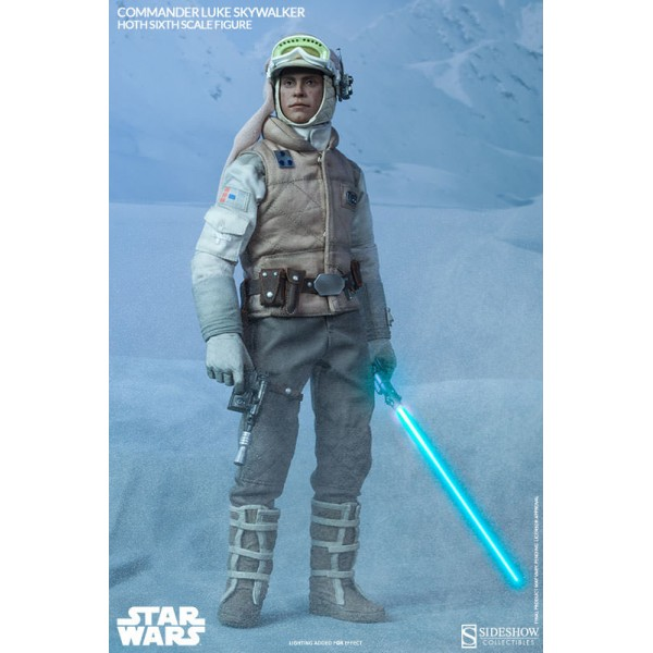 Star Wars Action Figure 1/6 Commander Luke Skywalker Hoth ...