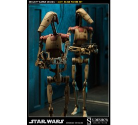 Star Wars Action Figure Set 1/6 Security Battle Droids 30 cm
