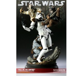 Star Wars Diorama Fall of the Empire (Ewoks vs Stormtrooper)