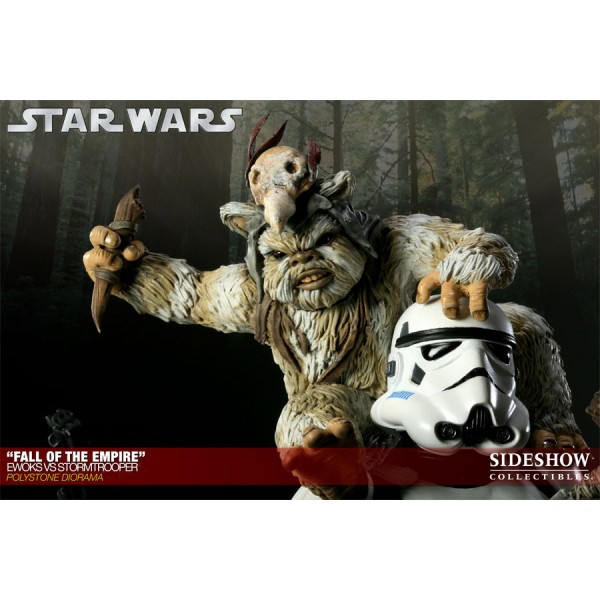 Star Wars Diorama Fall Of The Empire Ewoks Vs Stormtrooper