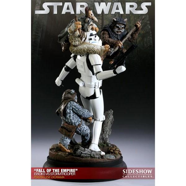 Star Wars Diorama Fall Of The Empire Ewoks Vs Stormtrooper
