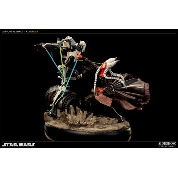 Star Wars Diorama Hunt for the Jedi (Shaak Ti vs. General Grievous) 30 cm