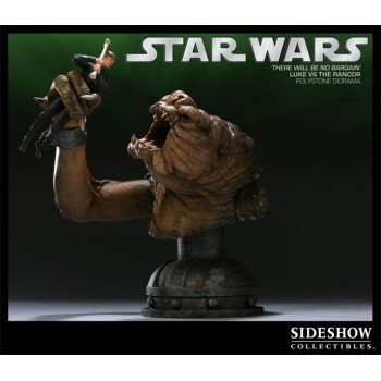 Star Wars Diorama There Will Be No Bargain (Luke vs. Rancor) 33 cm