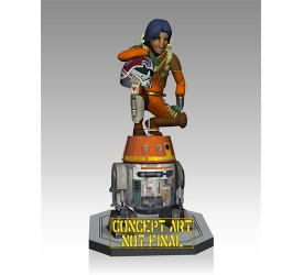 Star Wars Rebels Ezra and Chopper Maquette