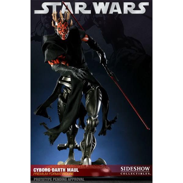 Star wars premium format figure 1/4 cyborg darth maul