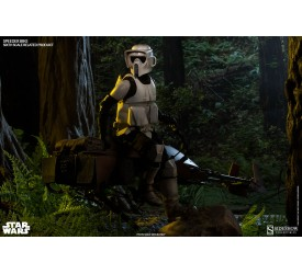Star Wars Scout Trooper with Speeder Bike Sixth Scale Figure Set 30 cm