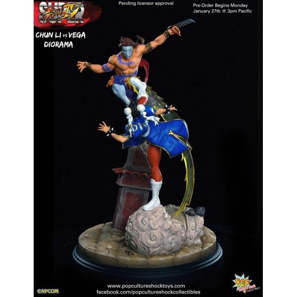 Street Fighter 4 Chun Li Vs Vega Statue 38cm