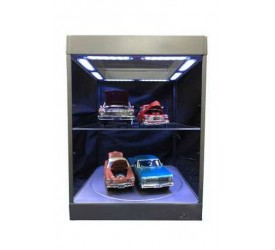 Display Case with Lighting for Model Cars (black)