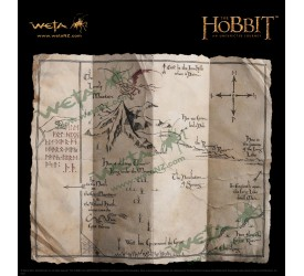 THE HOBBIT AN UNEXPECTED JOURNEY THORIN'S MAP PROP REPLICA