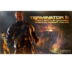 Terminator 2 Premium Format Figure 1/4 T-800 Battle Damaged 53 cm