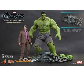 The Avengers Bruce Banner And Hulk Sixth Scale Figure Set