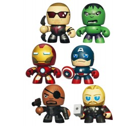 The Avengers Mini Mighty Muggs Vinyl Figure Case Special Edition 13 cm (6 pieces)