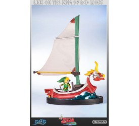 The Legend of Zelda The WindWaker Statue Link on The King of Red Lions 64 cm