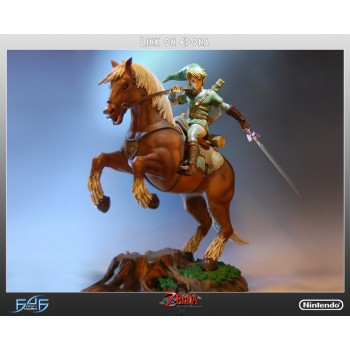 The Legend of Zelda Twilight Princess Link on Epona Statue